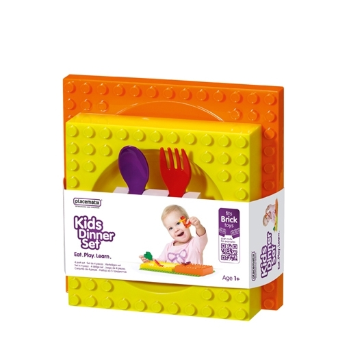 Kids dinnerset orange