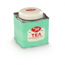 Tea Box Tin Cream / Green